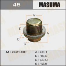 Болт маслосливной 45 Honda  20х1.5mm MASUMA