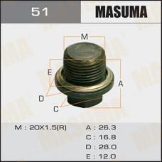 Болт маслосливной 51 Subaru  20х1.5mm MASUMA