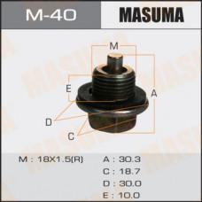 Болт маслосливной M-40 С МАГНИТОМ Toyota  18х1.5mm  2L,3L,1C,2C,1#B,1G,7M,4S M-40 MASUMA