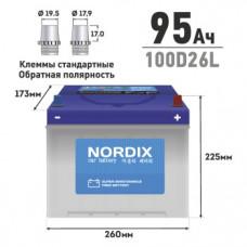 АКБ  NORDIX  95  Ah  L(обр)    ССА 730А    260*175*225      необслуж.