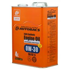 Моторное масло AUTOBACS 0W-30 SN/GF-5 + PAO 4л