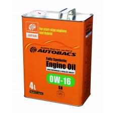 Моторное масло AUTOBACS 0W-16 SN 4л