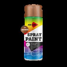 Краска-спрей бронза 450 мл (аэрозоль). SP-BZ132 AIM-ONE