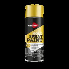 Краска-спрей золото 450 мл (аэрозоль). SPBG-450 AIM-ONE