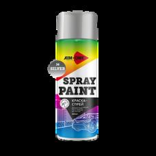Краска-спрей серебряная 450 мл (аэрозоль). SP-S36 AIM-ONE