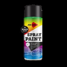 Краска-спрей черная глянцевая 450 мл (аэрозоль). SP-GB39 AIM-ONE