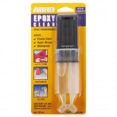 Клей эпоксидный прозрачный в шприце EP-300 ABRO
