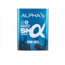 Моторное масло 0W20 4л SN/GF-5 синтетика Alpha s