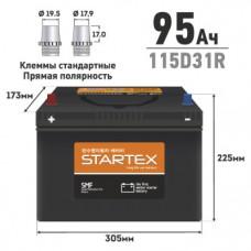 """АКБ """"STARTEX"""" 95 А/ч R ССА 750А 310*170*200 НЕобслуж. (1/60)"""