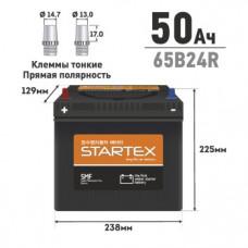 """АКБ """"STARTEX"""" 50 А/ч R ССА 470А 240*127*200, НЕобслуж., мл.клемма (1/96)"""