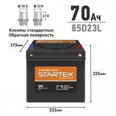 "АКБ ""STARTEX"" 70 А/ч L (обр.) ССА 590А 230*170*200 НЕобслуж. (1/80)"