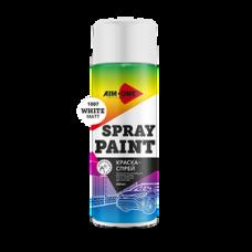 Краска-спрей белая матовая 450 мл (аэрозоль). SP-MW1007 AIM-ONE